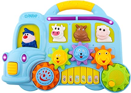 Infantino Animal House Animal Sound Musical Songs Childs Toddler Learning Toy