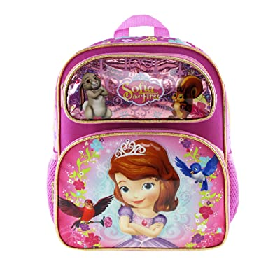 "Disney's Sofia The First 12"" Toddler Size Backpack - Sweet & Kind A16491 