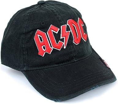 AC/DC Hombre Gorra De Béisbol – Logo Tapa Negro/Rojo: Amazon.es ...