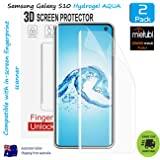 [2 Pack] Samsung Galaxy S10 HYDROGEL NTPU 3D Premium Full Cover Screen Protector | Easy Application | Case Friendly | Free & Fast Delivery