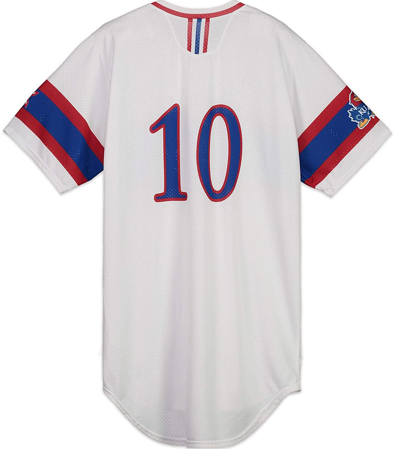 meet a529c 90006 Kansas Jayhawks Team-Issued #10 White, Blue, and Red Jersey ...