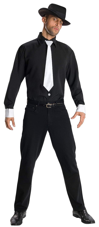 Disfraz de gángster para hombre, camisa y accesorios, Talla única ...