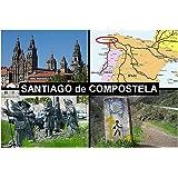 IMÁN PARA NEVERA - RECUERDO de SANTIAGO DE COMPOSTELA SPAIN 9cm x 6cm Jumbo