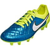 Nike Womens Tiempo Legend V FG Soccer Cleat (Blue Lagoon, Volt)