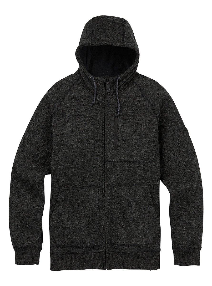Men's Burton Bonded Full-Zip Hoodie (TRUE BLACK SWEATER, MEDIUM)