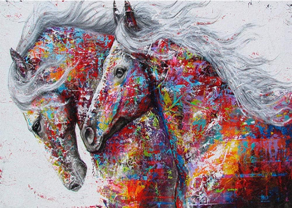 Puzles Adulto De 1000 Piezas Animal Caballo Pintado para Niños Adulto Juguete Regalo Puzzle DIY Art Juegos Rompecabezas