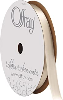"product image for Berwick Offray 070437 3/8"" Wide Single Face Satin Ribbon, Cream Ivory, 6 Yds"