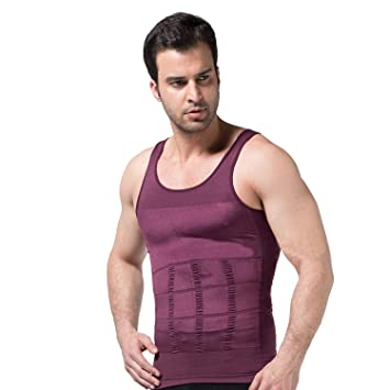 383fe0694f Image Unavailable. Image not available for. Color  PU Health Pure Acoustics  3 Piece Men s Slimming Compression Body Shaper Tank Top