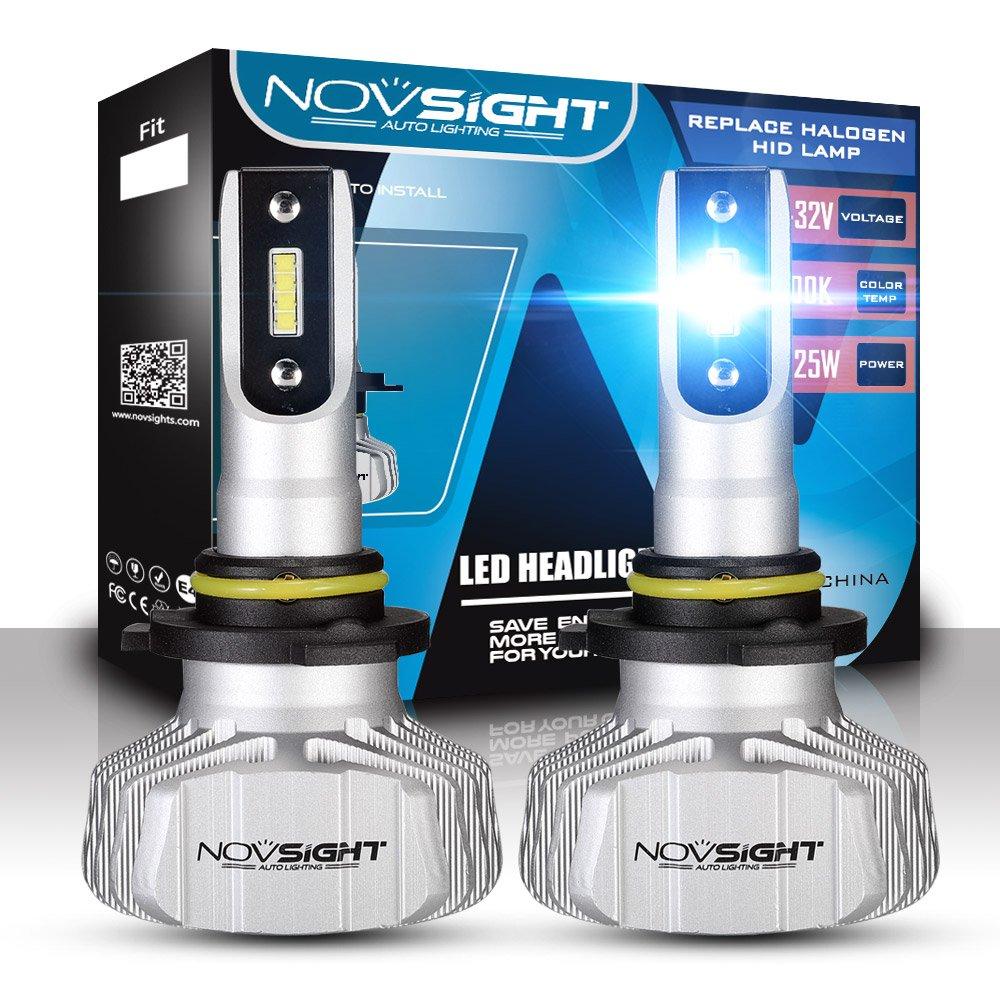 2 Piezas Faros Delanteros Bombillas LED 50 W 10000LM 6500K Super Brillante L/ámpara de Luces Blancas Fr/ías para Coches Veh/ículos NOVSIGHT H11 IP68 Impermeable H8 H9