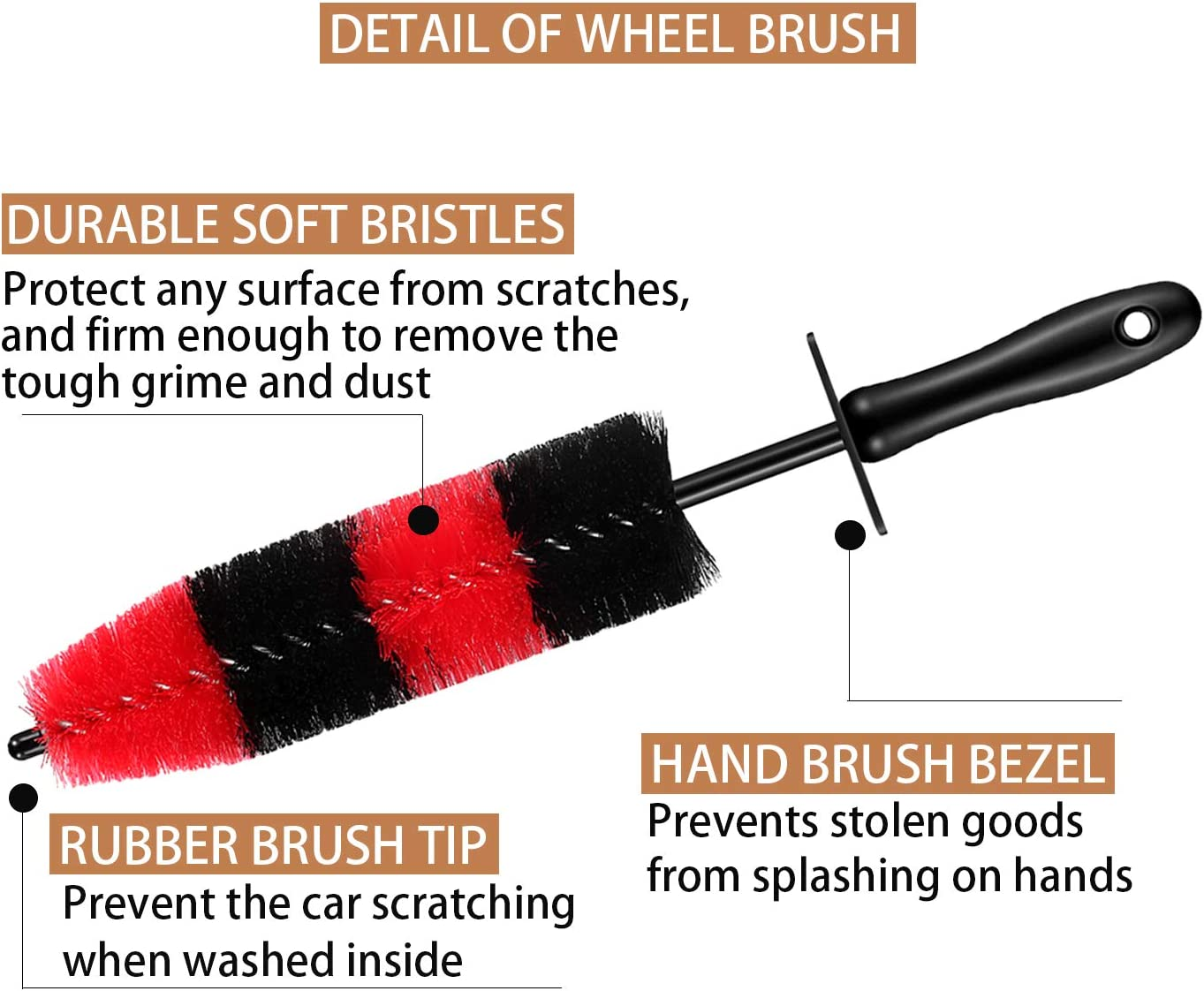 10Pcs Car Wheel /& Tire Detailing Brush Kit,Including 17inch Long Wheel Brush,Short Handle Tire Brush,5pcs Boar Hair Detail Brushes Kit /& 3pcs Wire Brushes for Cleaning Car Wheels /& Interior Exterior