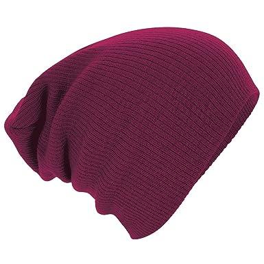e4856943eff56 Beechfield Unisex Slouch Winter Beanie Hat (One Size) (Burgundy ...