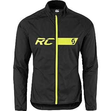 Scott Hombre unidad Chaqueta RC Run WB Caviar Black S, primavera/verano, hombre