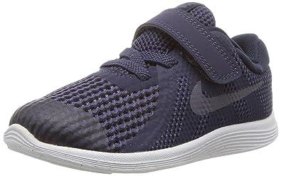Nike Unisex-Kinder Revolution 4 (TDV) Laufschuhe, blau