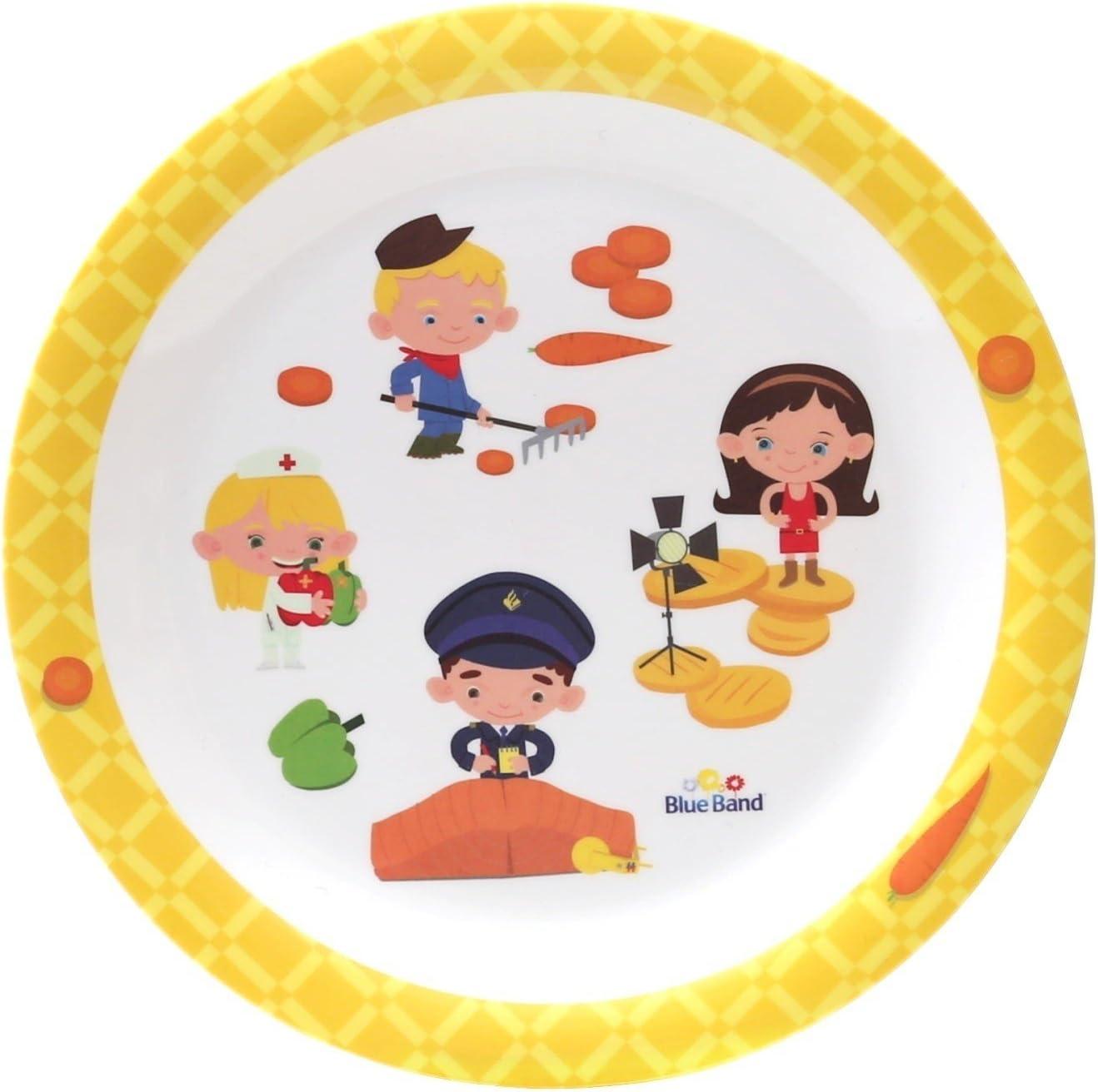 BlueBand - Platos de melamina para camping, para niños ...