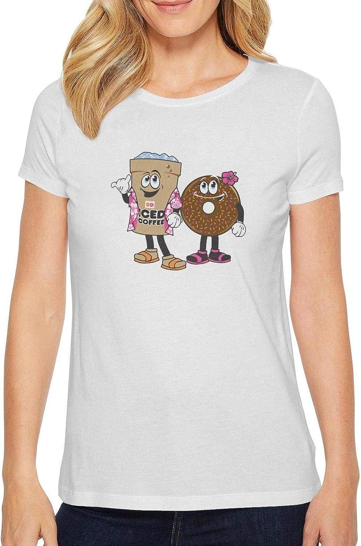COOL BEARD Womens Clothing T Shirts Slim-Fit Solid Humor