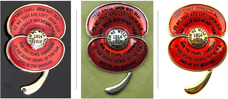 Lasting Memories Broche conmemorativo de la Primera Guerra Mundial de los Recuerdos de los Recuerdos de la Primera Guerra Mundial con Poem We Will Remember Them