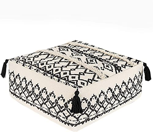 idee-home Unstuffed Pouf Geometric Ottoman