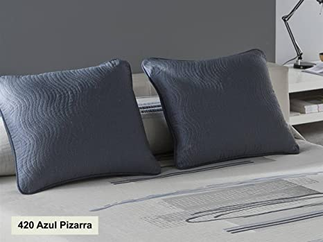 Tejidos JVR - Cojín Tibor 50x60 cm - Color Azul Pizarra sin ...