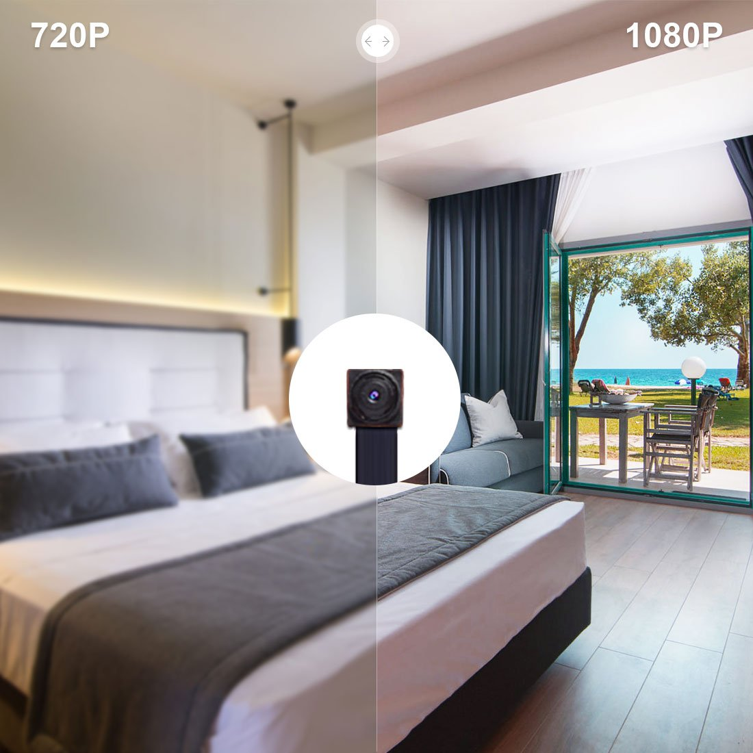 Mini Cámara Espía Boton AOBO 1080P HD Cámara Oculta WiFi Vigilancia Interior Cámara Portable Pequeña Casa Cámara Seguridad IP con Detectores de Movimiento ...