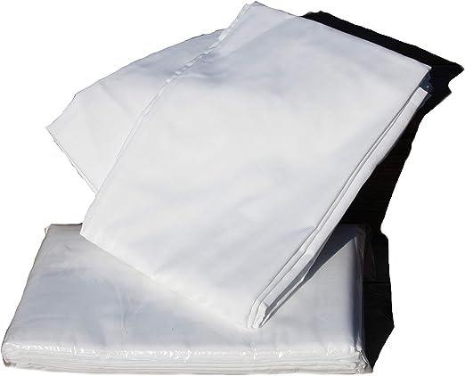 TextilDepot24 - Sábana bajera, lisa, 100% algodón, color blanco ...
