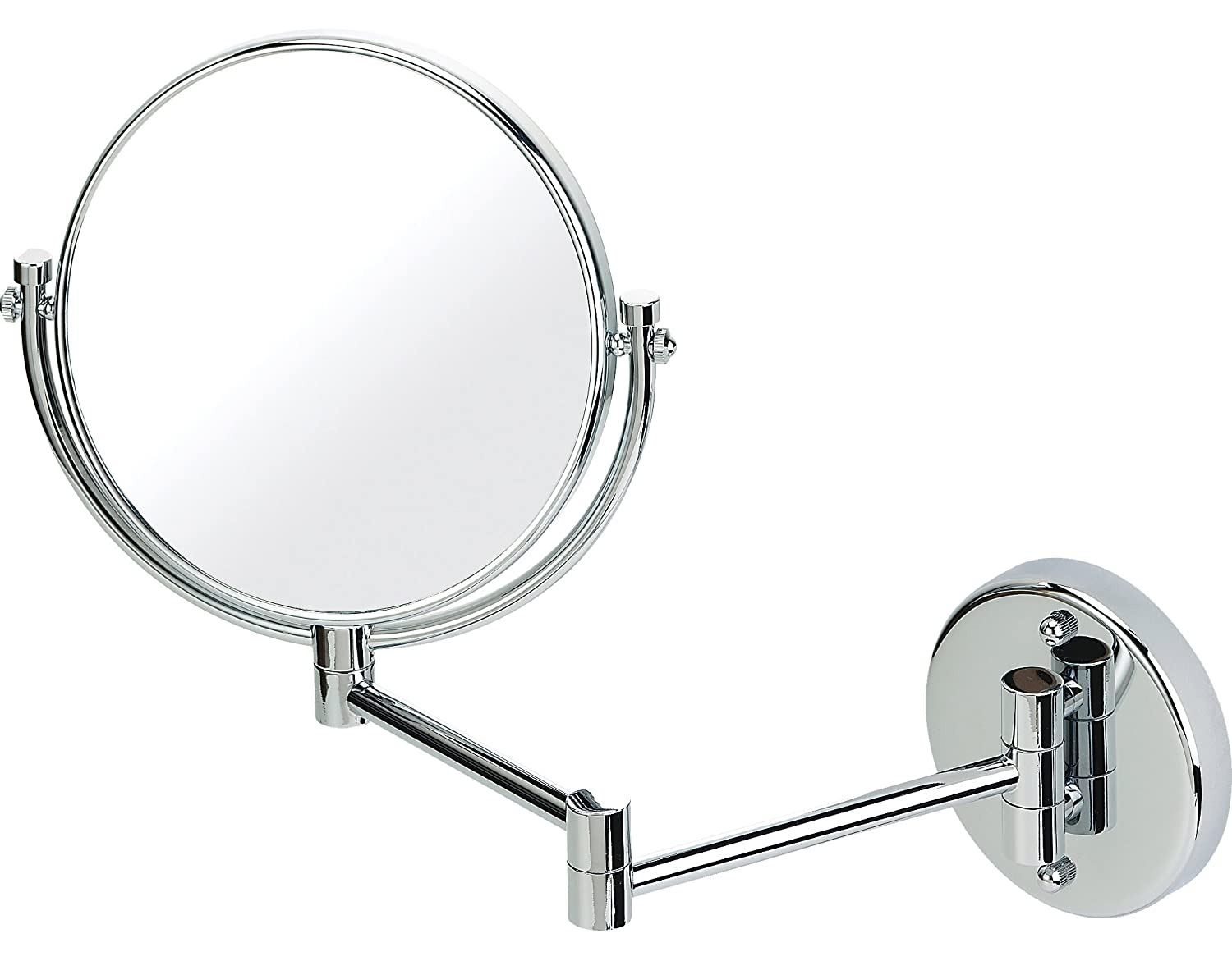 Chrome extending shaving wall mounted mirror true image x3 chrome extending shaving wall mounted mirror true image x3 magnified extends to 35cm 20cm amazon beauty amipublicfo Gallery