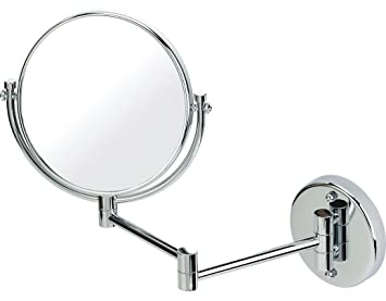Chrome Extending Shaving Wall Mounted Mirror True Image X3 Magnified Extends To 35cm 20cm