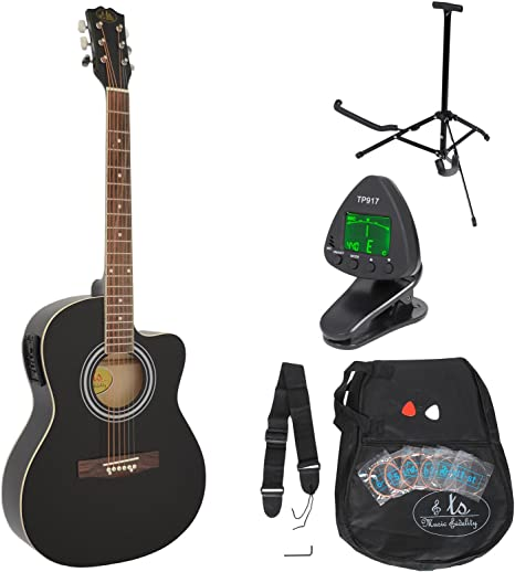 Guitarra acústica WESTERN completa con accesorios y ecualizador ...