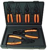 Lang Tools (3497) 6-Piece Fixed Tip Combination Internal/External Snap Ring Pliers Set