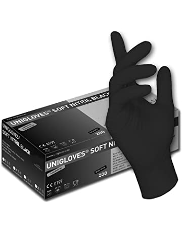 (1 scatola) nero guanti usa e getta - guanti senza polvere 2f8b4585c192