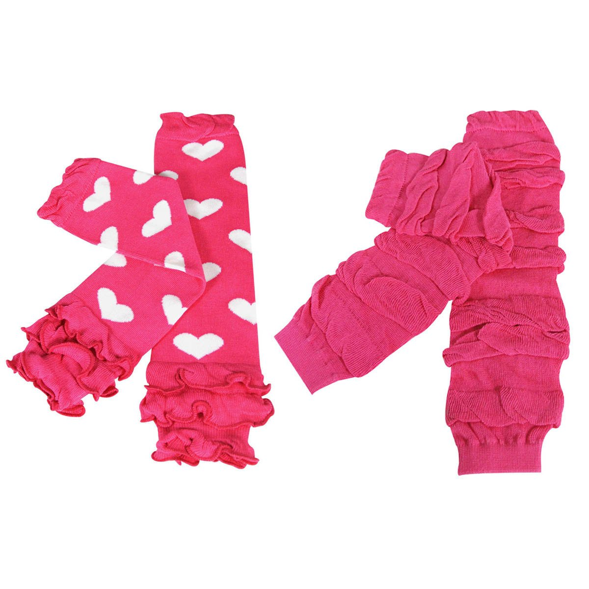 Hearts /& Ruched Wrapables Colorful Baby Leg Warmers Set of 2