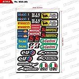 KUNGFU GRAPHICS カンフー グラフィックス CASTROL ELFレーシングスポンサーロゴ マイクロデカールシート