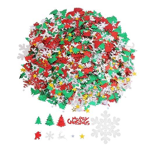 Toyvian Navidad Confeti De Papel Lentejuelas Copo De Nieve ...