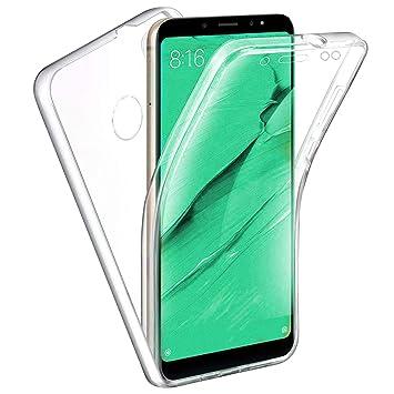 TBOC Funda para Xiaomi Redmi Note 5 - Redmi Note 5 Pro - Carcasa [Transparente] Completa [Silicona TPU] Doble Cara [360 Grados] Protección Integral ...