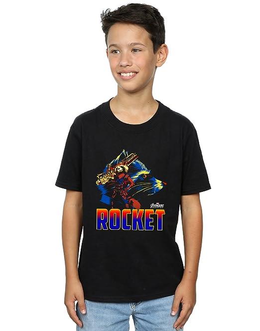Avengers Hombre Infinity War Rocket Character Camiseta UvJKcrT8CT