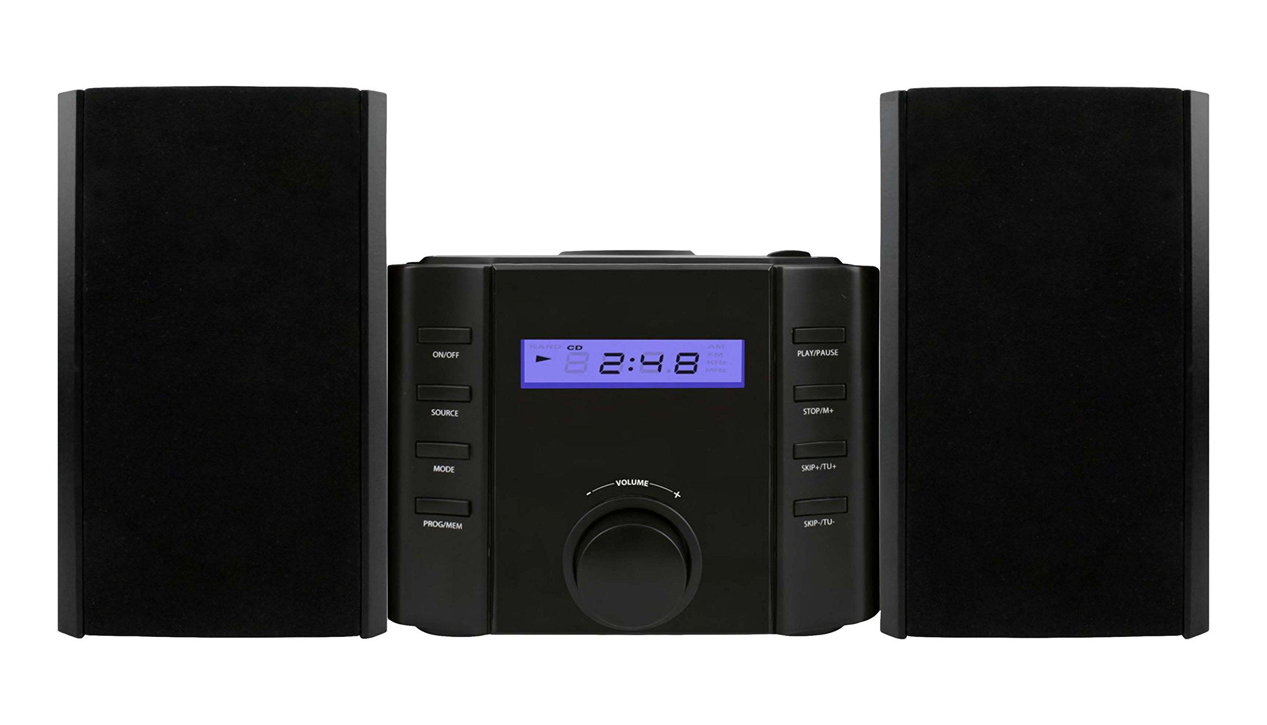 Sylvania SRCD804BT CD Microsystem with Radio and Bluetooth by SYLVANIA