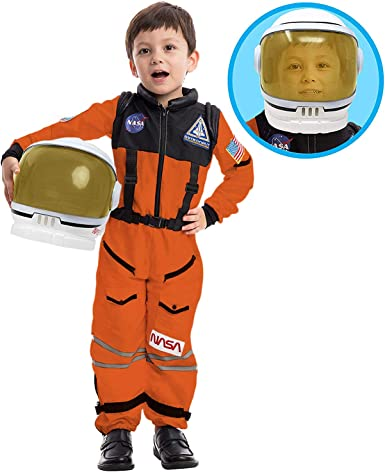 Spooktacular Creations Astronauta NASA - Casco de piloto Naranja ...
