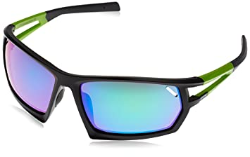 c10304098ce379 Uvex Sporty 704 Adult Sports Glasses Black Black Mat Green Size One Size