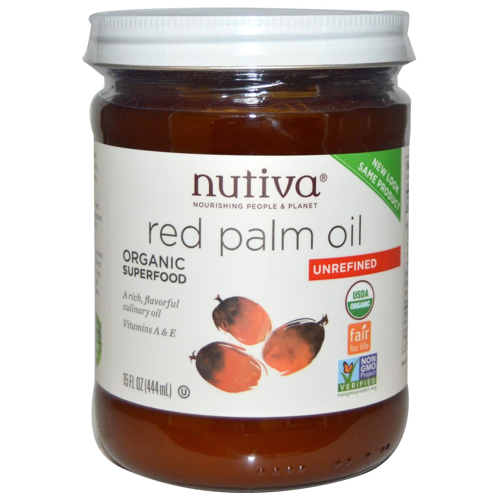 Nutiva Organic Red Palm Oil 15 oz (Pack of 2) by Nutiva (Image #1)