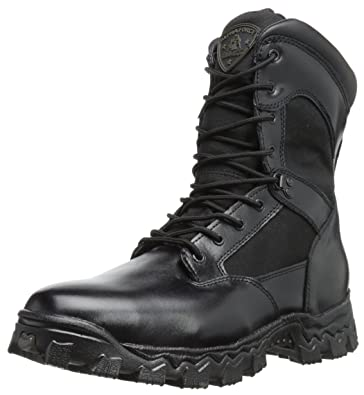 """Very Nice Mens ROCKY ALPHA FORCE 8"""" Black Sz 9.5 WATERPROOF Lace Up Boots COOL"""