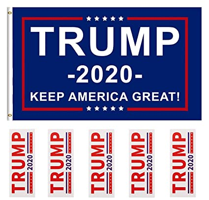 d9a0a135 Amazon.com : DFLIVE Donald Trump for President 2020 Keep America Great Flag  3x5 Feet with Grommets : Garden & Outdoor