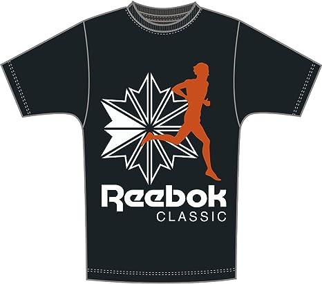 Reebok Hombre Classics R Camiseta Negro, L: Amazon.es: Ropa y accesorios