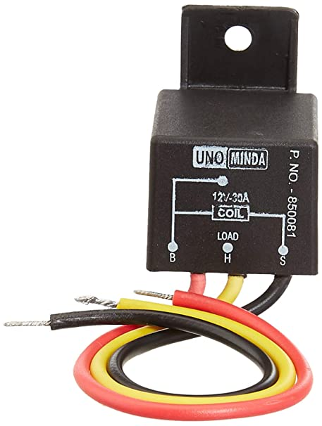 Swell Uno Minda 850081 Horn Relay Pmp Type With 3 Wires 12V 30A Wiring Cloud Nuvitbieswglorg