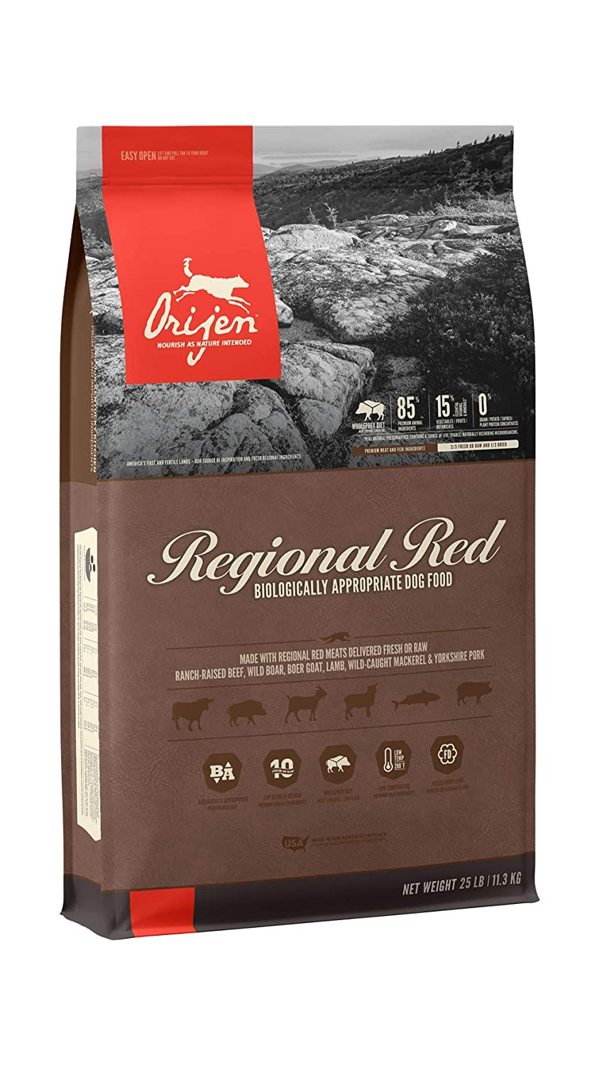 5.Orijen High-Protein, Grain-Free, Premium Quality Meat Dry Dog Food