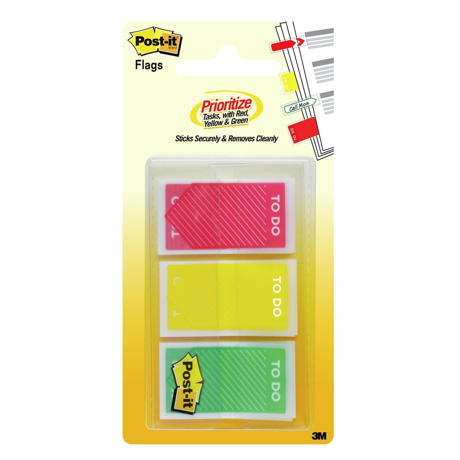 Post-it Flags 682-TODO, Sticks Securely and Removes Cleanly Without Damaging Documents.94 in. x 1.7 in, (682-TODO)