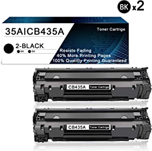 2 Pack Black 35A | CB435A Compatible Toner Cartridge Replacement for HP Laserjet P1002 P1003 P1004 P1005 P1006 P1007 P1008 P1009 Printers Toner Cartridge.