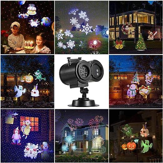 Decdeal Luces de Proyector de Navidad de Halloween, 12 ...