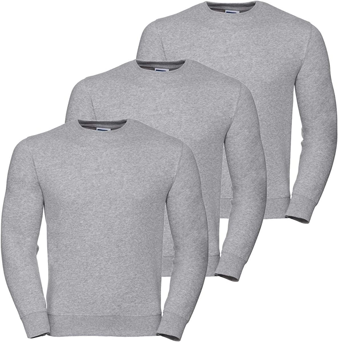 Style It Up New Mens Brushed Fleece Sweatshirt Jumper Heavy Duty Workwear Plain Casual Warm Big and Tall Plus Sizes