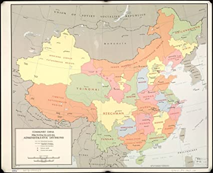 Cartina Cina Con Province.Cartina Del 1967 Comunista Cina Provincia Divisioni Amministrative Dimensioni 20 X 24 Cm Pronta Da Incorniciare Amazon It Casa E Cucina
