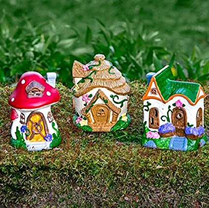 fairy garden houses figurines accessories bowls moss and pebbles sets houses - Fairy Garden Houses
