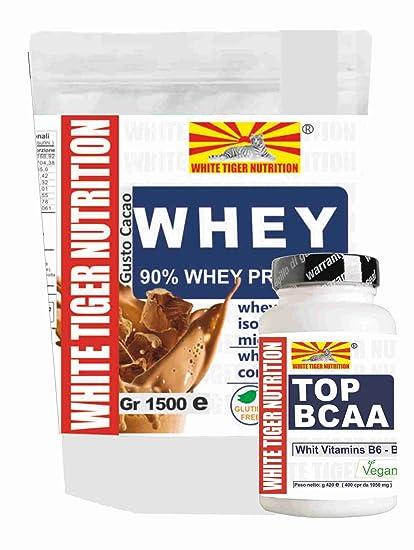 Proteínas y BCAAs | 2 suplementos | 90 whey suero de proteína de suero aislado gr